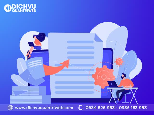 Yêu cầu về dịch vụ quản trị nội dung website