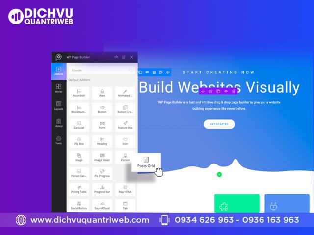 WP website builder – Đa dạng lựa chọn